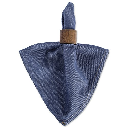 DII 100% Cotton Cloth Napkins, Oversized 20x20'' Dinner Napkins, For Basic Everyday Use, Banquets, Weddings, Events, or Family Gatherings - Set of 6, Denim by DII (Image #4)'