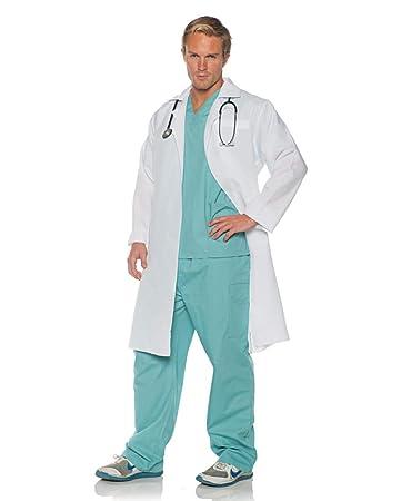 0ae4c0fc1b1 Horror-Shop Chirurgen Berufskostüm mit Arztkittel für Karneval One Size