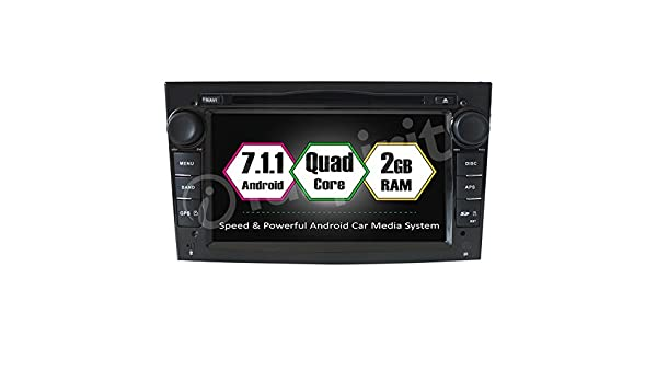 Android 7.1 GPS DVD USB SD Wifi Bluetooth Radio 2 Din navegador Opel Corsa y Opel Zafira/Opel Meriva/Opel Astra/Opel Antara/Opel Vivaro/Opel Vectra/ Opel ...