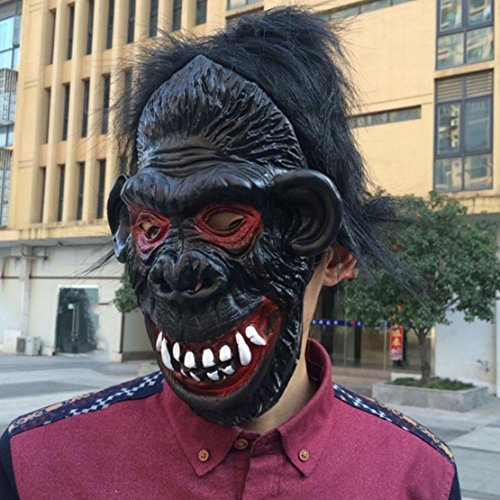 Halloween Masquerade COS Party Carnival Fancy latex Animal Full head mask,Buck-teeth Gorilla