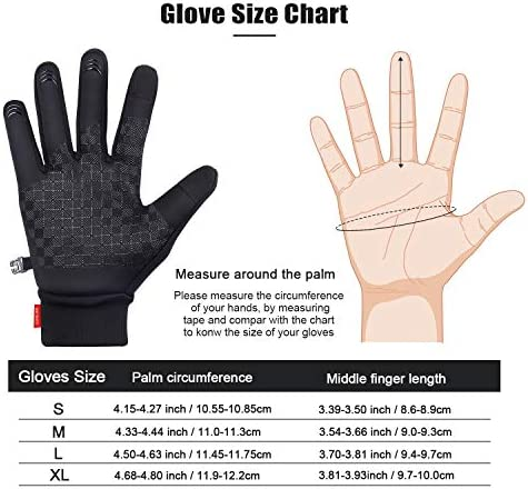 30°F Touchscreen Winter Gloves for Men and Women Running Hiking Driving