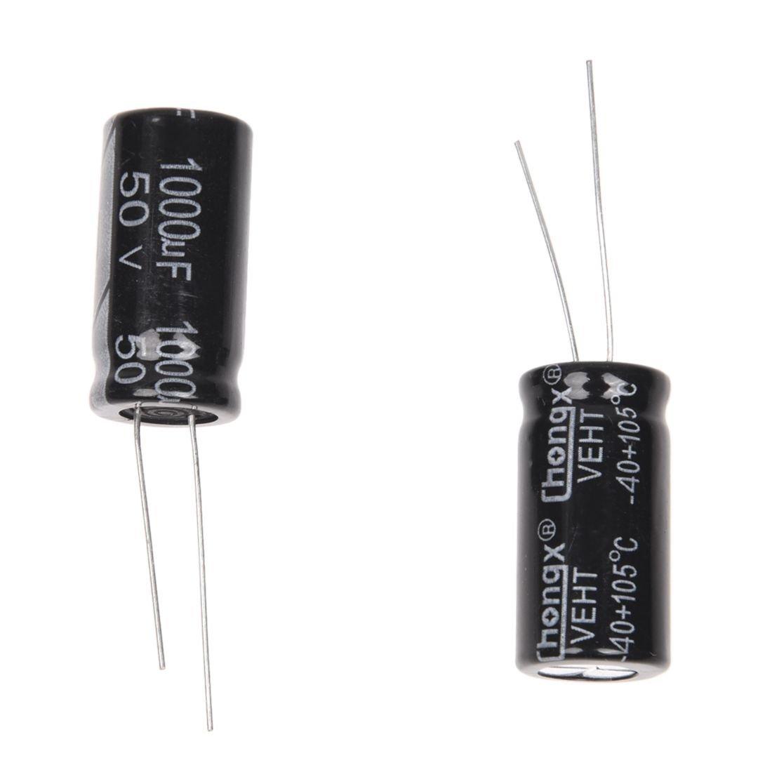 20 Pz 1000uF 50V 105C condensatori elettrolitici in alluminio 13x25mm R TOOGOO