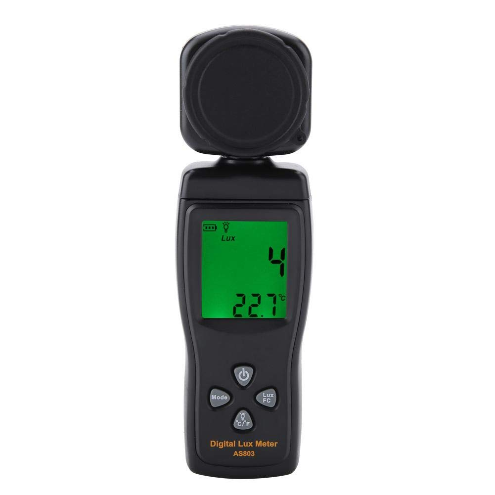 Light Meter Lux 10~50℃ with Backlight Data Hold Auto Off Power Max Mini Measurement Function Mini LCD Display Digital Luxmeter Light Meter