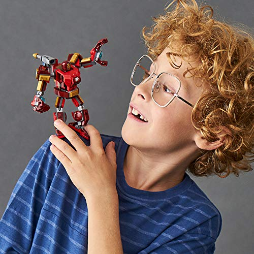 LEGO Marvel Avengers Iron Man Mech 76140 Kids' Superhero Mech Figure, Building Toy with Iron Man Mech and Minifigure (148 Pieces)