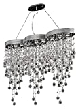 Galaxy Collection 9-Light Chrome Fix With Clear Swarovski Strass Crystal