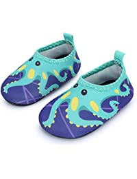 Baby Boys Girls Barefoot Swim Water Skin Shoes Aqua Socks Beach Swim Pool