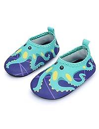 JIASUQI Baby Toddler Swim Water Shoes Aqua Skin Socks Quick-Dry Barefoot for Beach Swim Pool
