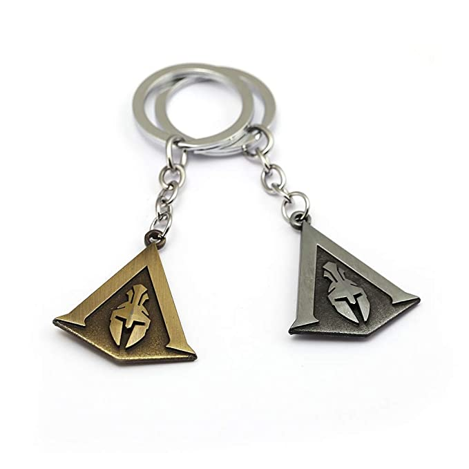 Mct12 - Assassins Creed Keychain Odyssey New Game assassins Key Chain Key Holder Porte Clef Llaveros Hombre