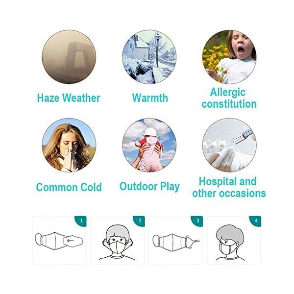 Mascarilla anticontaminación de grado militar N99. Mascarilla lavable de algodón y con filtro reemplazable. El paquete incluye una mascarilla y 8 filtros. De Lyanty 3