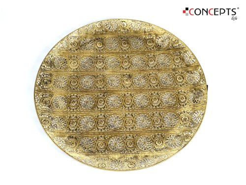 Decorative Plate Luminous Lace Collection Gold Tray Extra Large