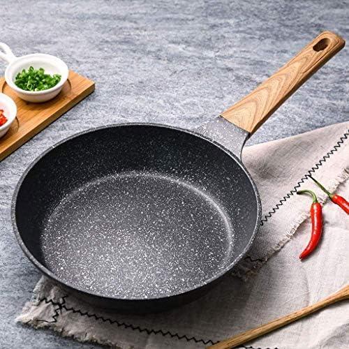 Diaod Frying Pan, Antiadhésif Profonde Poêle avec Couvercle en Verre, Pierre Derived antiadhésifs Granite Revêtement