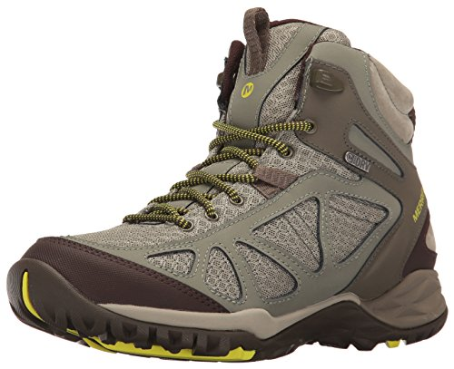 Merrell Women's Siren Sport Q2 Mid Waterproof Hiking Boot, Dusty Olive, 8 M US ()