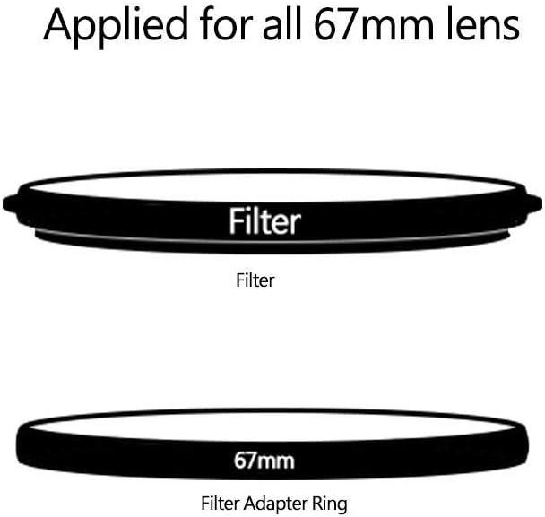 Mugast Filter Adapter Ring,Filter Holder 67mm Adapter Ring Aluminium Alloy Adapter Ring for All 67mm Filter Holder Use for Metal Holder