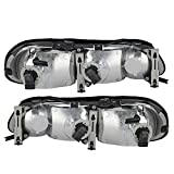 Driver and Passenger Headlights Headlamps