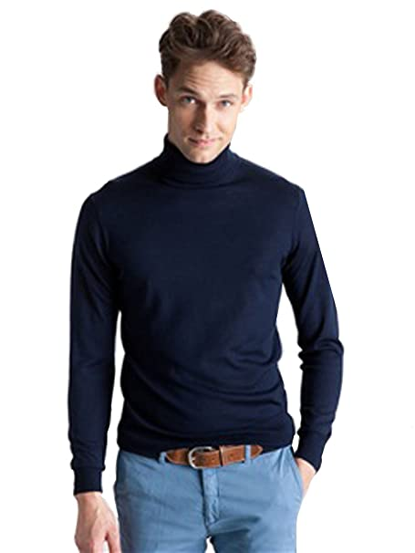 096447718d3c MEN S ROLL NECK SOFT SUPERIOR QUALITY COTTON LONG-SLEEVE TOPS- (3XLarge