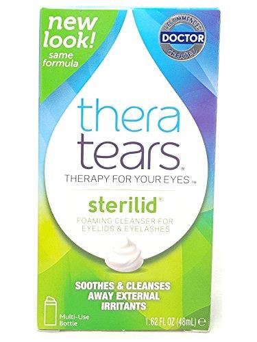 Theatears Sterilid Eyelid and Elyelash cleanser, 1.62 FL OZ Per Bottle