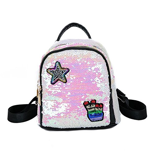 Amazon.com: SODIAL Women Backpack School Bags For Girls Small Backpacks Female Travel Backpack Sequins School Backpacks Black: Shoes