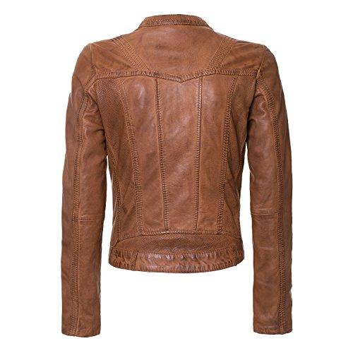 Jacke Nantes von MaraMahr aus weichem Lammleder für Damen in cognac