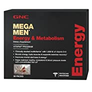 GNC Mega Men Energy Metabolism Vitapak Program - 4 Pack