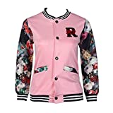 Clode for 5-12 Years Old Girls, New Fashion Girls Kids Baseball Jacket Long Sleeve Coat Clothes Outwear (10-12Years Old, Pink)