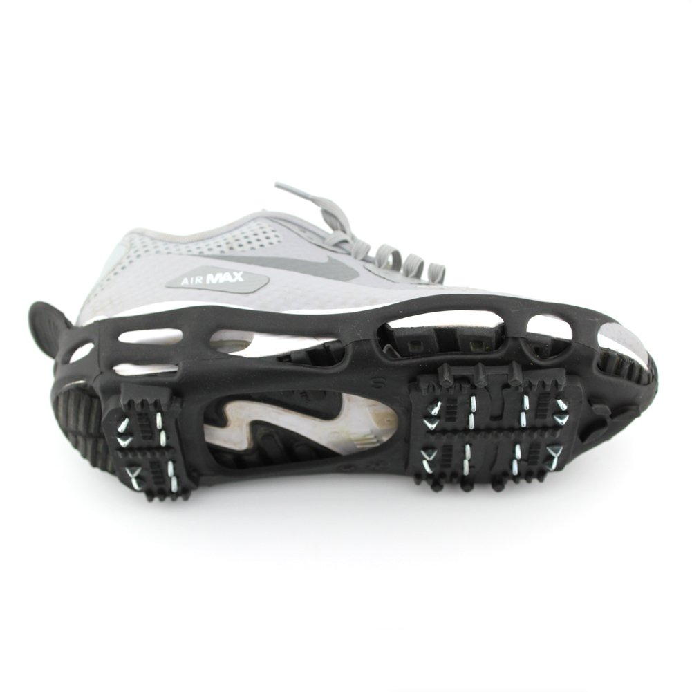 ODIER Shoe Ice Grippers Ourdoor Ice Cleats fit All Kind of Shoes Designed for Walk on Ice Snow And Freezing Mud Ground Must Have Outdoor Sports Activity Accessory (24-Teeth, M)