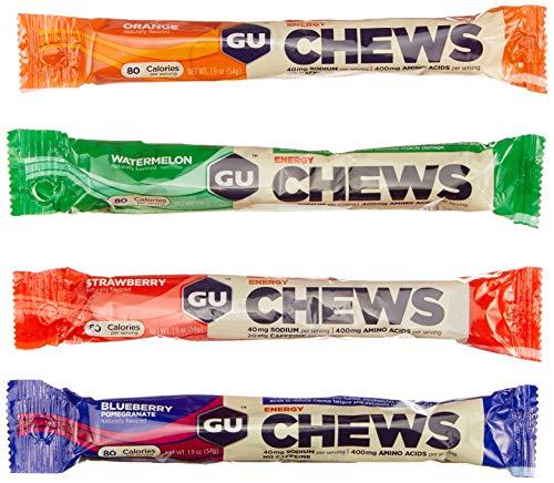 GU GU Energy Chews Testpaket, 5 x 54g, 4 verschiedene Sorten, 270 g
