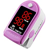 Facelake FL400 Pulse Oximeter with Carrying Case, Batteries, Neck/Wrist Cord...