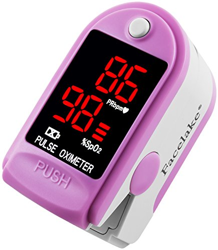 FaceLake-FL400-Pulse-Oximeter-with-Carrying-Case-Batteries-NeckWrist-Cord-Pink