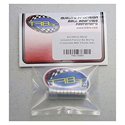 Traxxas 5116 5x11x4mm Replacement Precision Ball Bearings MR115-2RSBU (10)