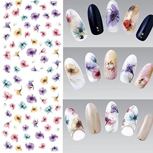 Fashion Gallery Nail Art Stickers Uñas Arte Agua Calcomanía Etiqueta Consejos Bricolaje Decoración