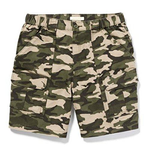Cotton Hiking Shorts - Savane Men's Comfort Hiking Shorts (40, Ivy Green)
