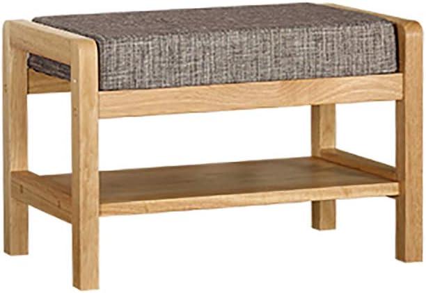 靴のベンチを変更する靴のベンチ収納スツール座ることができる、すべての無垢材 (色 : A)