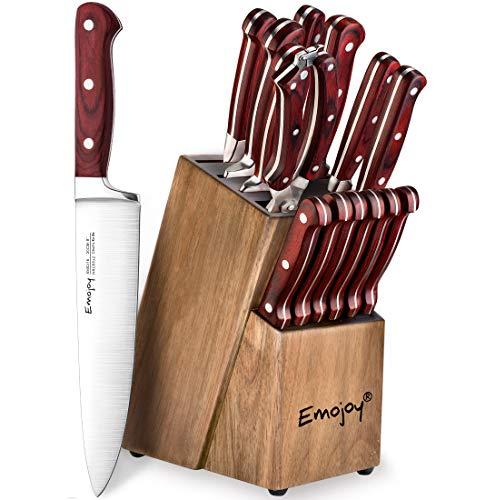 15 Piece Kitchen Wattle Wood Sharpening Stainless