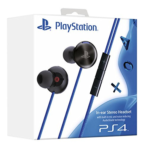 Sony PS4 PlayStation In-Ear Stereo Headset with Built-In Mic and Noise Reducing AudioShield Technology
