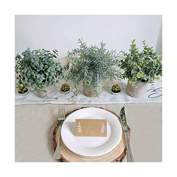 Winlyn 2 Pack Artificial Potted Plants Faux Eucalyptus /& Rosemary Greenery in Pots Small Houseplants 8.3-9 Tall for Indoor Greenery Tabletop D/écor Centerpiece
