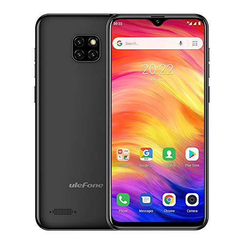 Ulefone Note 7 Unlocked Cell Phones 3G, Unlocked Smartphones Dual Sim Android 9.0 6.1'' 1GB+16GB 8MP Three Camera 3500 Mah Battery Face ID GPS, US Version,No Sprint&Verizon