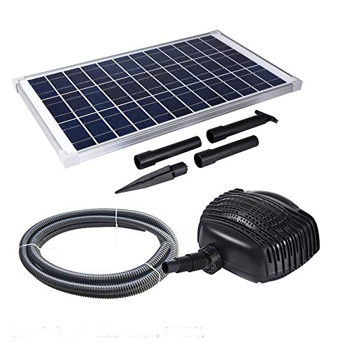 MNP SP25 25W Solar Powered Pond Pump Max 647 GPH Pump