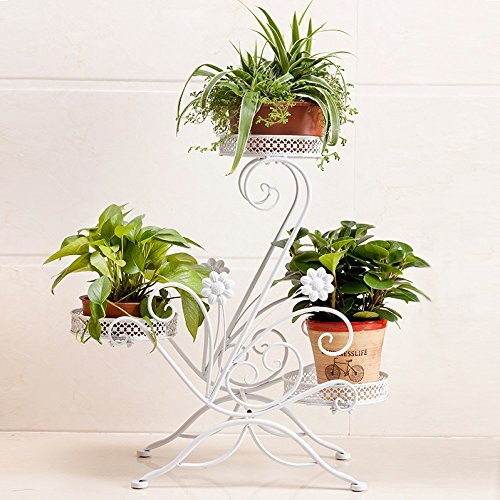 European style flower frame, multi-storey balcony bedroom living room flower pot rack by Flower racks