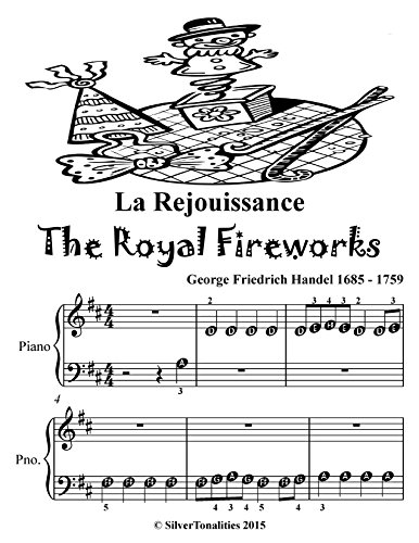 Le Rejouissance Royal Fireworks Beginner Piano Sheet Music Tadpole Edition (Music For The Royal Fireworks Sheet Music)