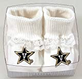 Future Tailgater Vanderbilt Commodores Boxed Baby Booties with Lace