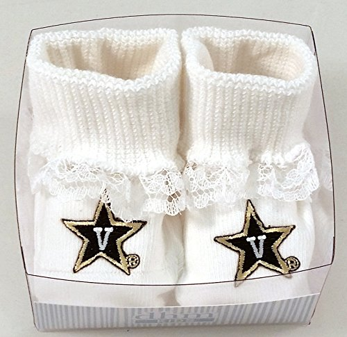 (Future Tailgater Vanderbilt Commodores Boxed Baby Booties with)