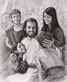 Joy - 8''x10'' Wall Art Print Jesus Christ and Children by David Bowman Religious Spiritual Christian Fine Art