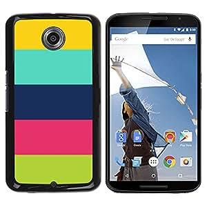 For Motorola NEXUS 6 / X / Moto X Pro Case , Pattern Colorful Pastel Clean Happy - Diseño Patrón Teléfono Caso Cubierta Case Bumper Duro Protección Case Cover Funda