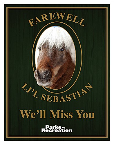 Culturenik Parks and Recreation Farewell Lil Sebastian Workplace Comedy TV Television Show Poster Print, Unframed 11x14