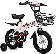 AKOZLIN Toddler Bike Velo Enfant Foldable Kids' Bicycles for 12/14/16/18 inch Bike Adjustable Seat with Tr