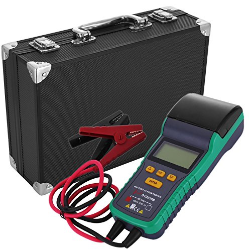 LOVSHARE Battery Tester 12V Battery Analyzer with Printer 30AH-200AH Automotive Battery Tester Digital Battery and System Health Tester for Car Truck Lead-acid Starting Battery