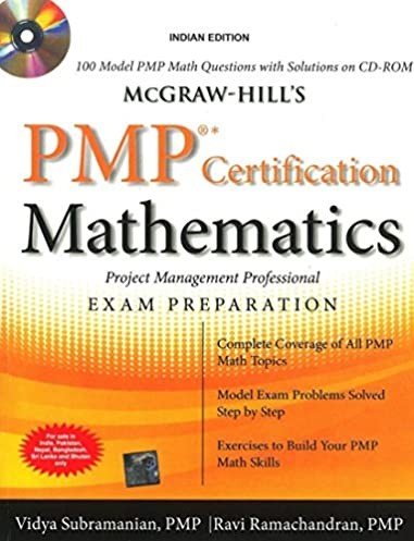buy mcgraw hill s pmp certification mathematics with cd rom book rh amazon in PMP Study Questions PMP Study Map