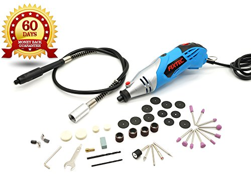 Fixtec Rotary Tool Kit, Dremel Tool Set with 40 Multi-functional Accessories 1.4Amp - D.I.Y Gift - for Easy Cutting, Carving and Grinding by FIXTEC