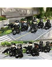 SWAT AUTO en 12ST Politie Militaire Mini Figuren Wapen Leger Soldaat Fit Speelgoed
