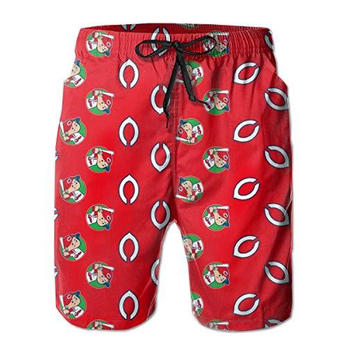 [해외]히로시마 동양 잉어 Hiroshima Carp 남성 비치 팬츠 바닷물 팬츠 바다 빵 서핑 팬츠 반바지 팬츠 수영복 바닷물 수 륙 양용 공기 속 건 여행 모래 인기 / Hiroshima Toyo Carp Hiroshima Carp Men`s Beach Pants Sea Pants Sea Pan Surf Pants Pants...